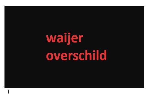 Logo waijer overschild