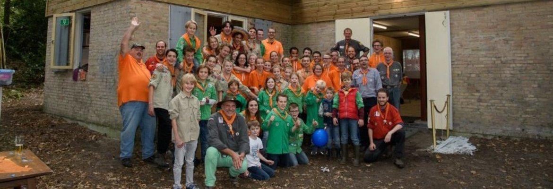 Banner van groep Scouting Prins Willem van Oranje