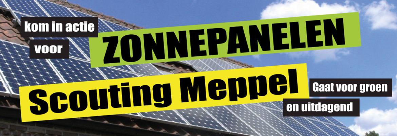 Banner van groep Scouting Meppel