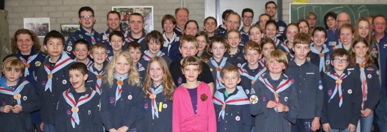 Banner van club Waterscouting Dorus Rijkers