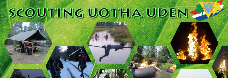 Banner van groep scouting uotha